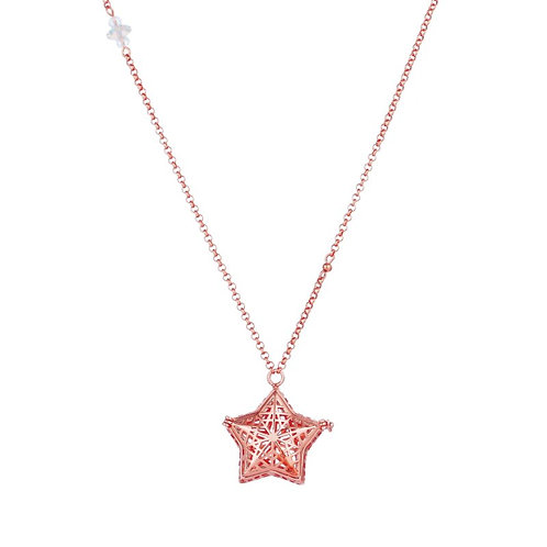 Shining Rose Gold Star  Necklace