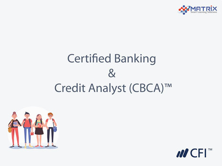 Certified Banking & Credit Analyst Certification