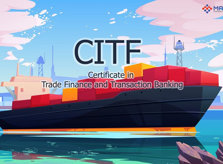 Certificate in Trade Finance and Transaction Banking‼️‼️‼️(CITF Exam Prep Course)