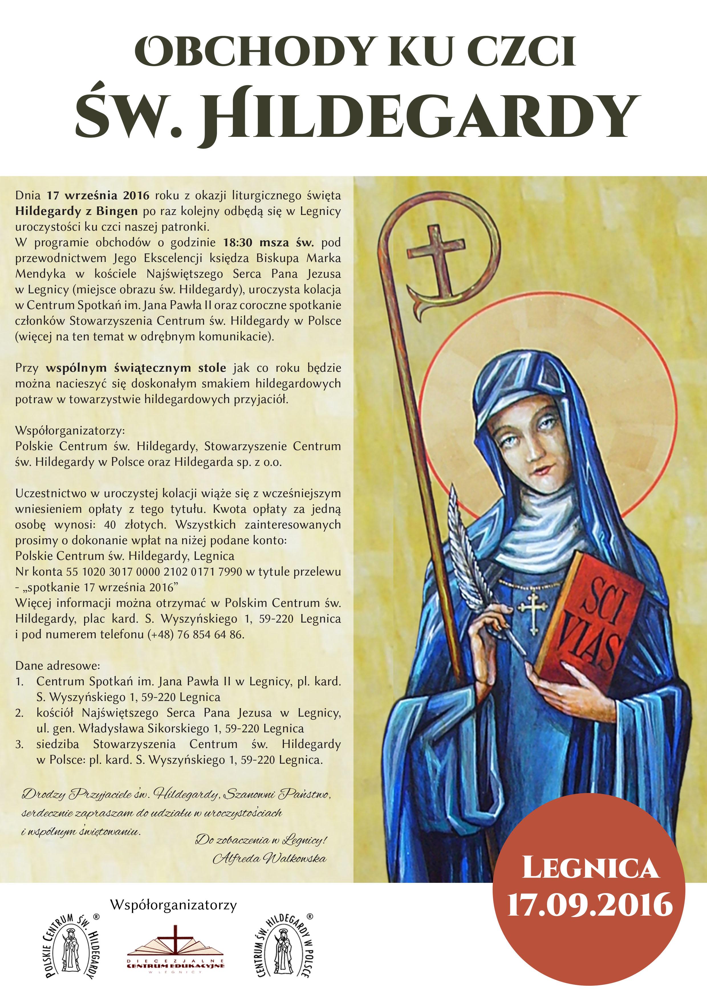 Obchody Ku Czci Sw Hildegardy 17 09 2016 Hildegarda Orkisz