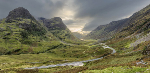Glen Coe Scenic Drive in Scotland