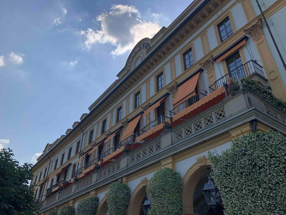 fassade of Villa D'Este Hotel at Lake Como