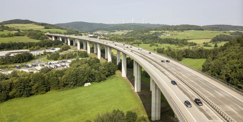 Autobahn Bridge in Germany