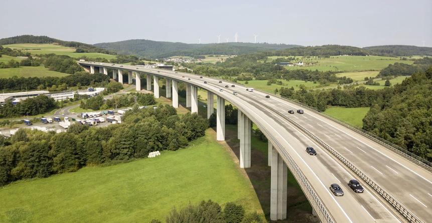 Autobahn Bridge in Germany
