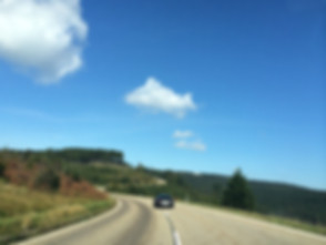 Porsche 911 driving on Black Forest High Road