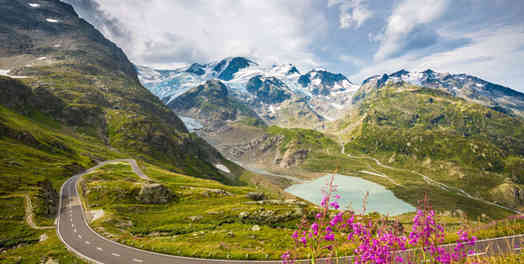 """BIG3"" Swiss Alpine Pass Driving Tour"