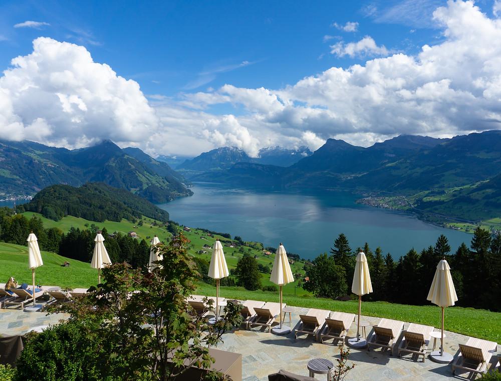 View over Lake Lucerne from Bürgenstock Resort