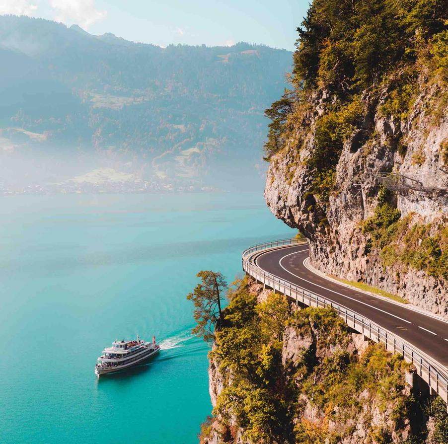 Scenic Road at Lake Thun