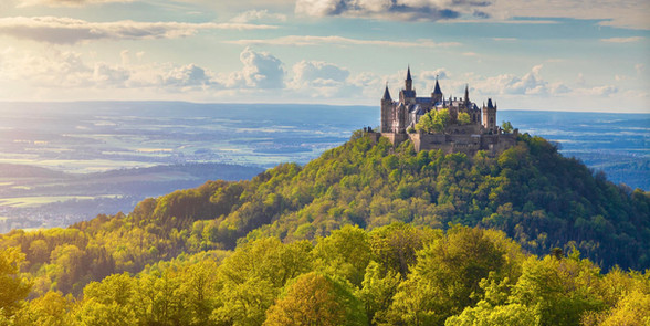 Hohenzollern Castle during fall