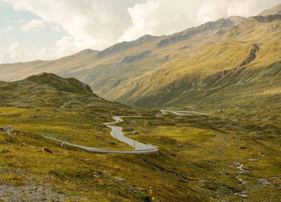 Fluela Pass in the Swiss Alps