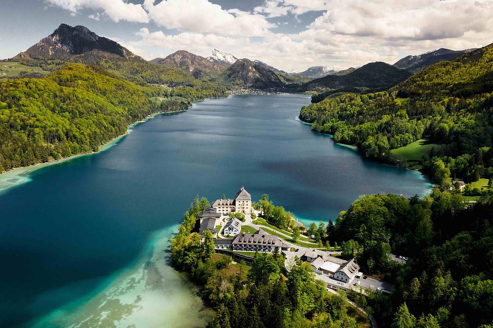 Hotel Schloss Fuschl at Lake Fuschl in Austria