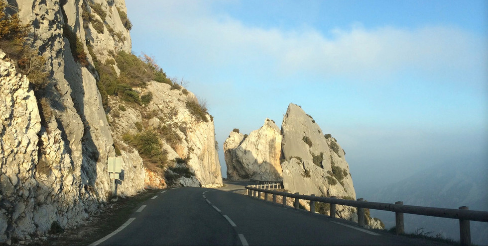 rocks framing the scenic Route Napoleon