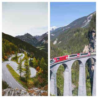 Swiss Alps Drive + Glacier Express