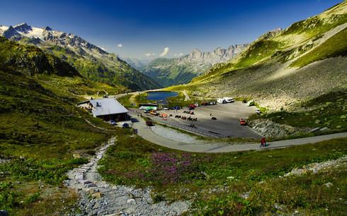 Summit of Susten Pass in the Swiss Alps