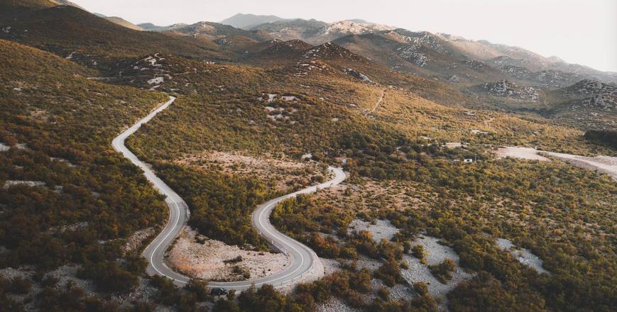 Scenic mountain road in Croatia