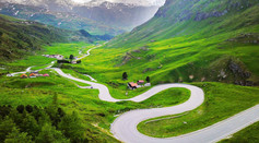 Julier Pass in the Swiss Alps
