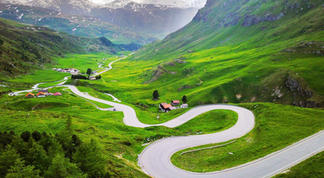 Julier Pass in the Swiss Engadine Alps