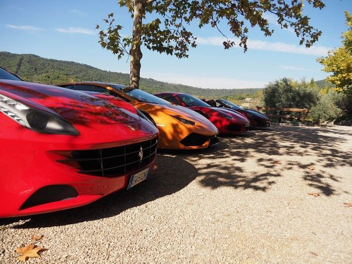 Four Supercar noses lined up