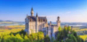 view from distance on Neuschwanstein Castle during summer day