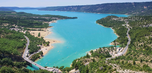 Cornice route at Gorge Verdon in Provence