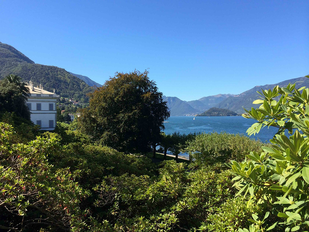 Villa Melzi garden with view over Lake Como