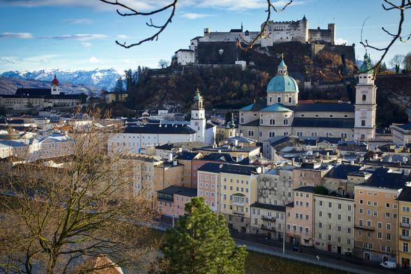 Salzburg castle during Fall