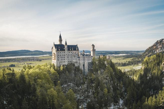 Romantic Neuschwanstein Castle in Bavaria
