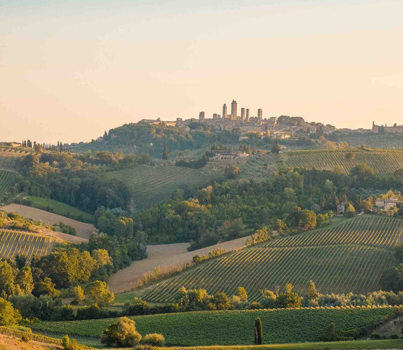 San Gimignano in Tuscany from a distance