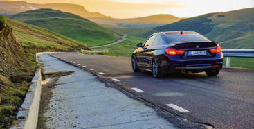 BMW on Transalpina Road in Romania