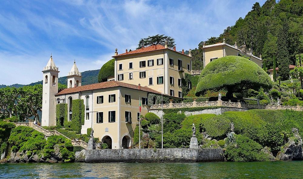 Villa del Balbianello from Boat on Lake Como