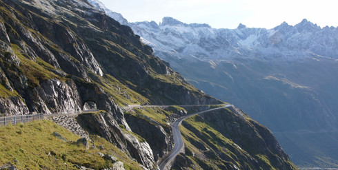 Tunnel on Susten Pass in the Swiss Alps