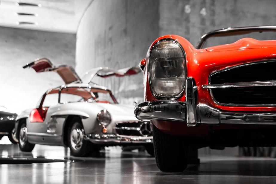 Merecdes exhibition at museum in Stuttgart