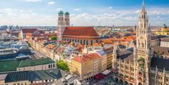 Munich Skyline with church