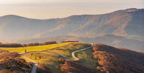 Roads over vosges mountains