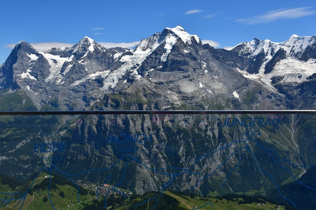 Swiss Skyline Panorama in the Central Swiss Alps