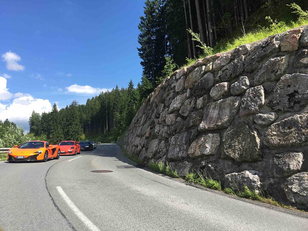 Gerlos Panorama Strasse in Austria