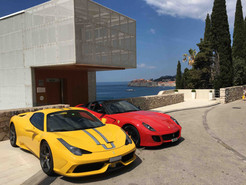 Two Ferrari with Dubrovnik in backround