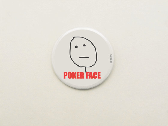 Boton Meme Poker Face