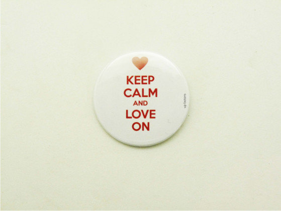Boton Keep Calm and Love On