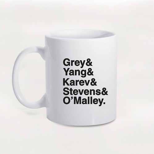 Caneca Grey's Anatomy - Personagens