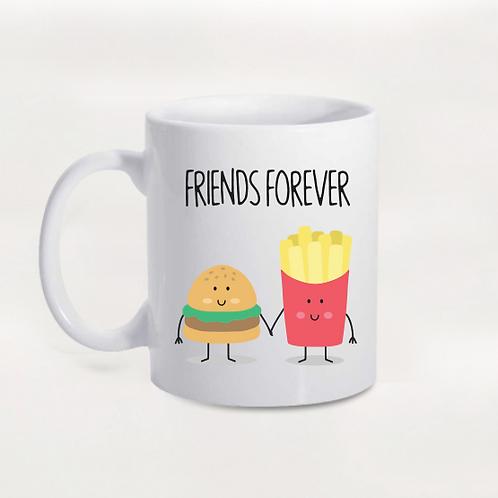 Caneca Friends Forever Batata e Hamburguer