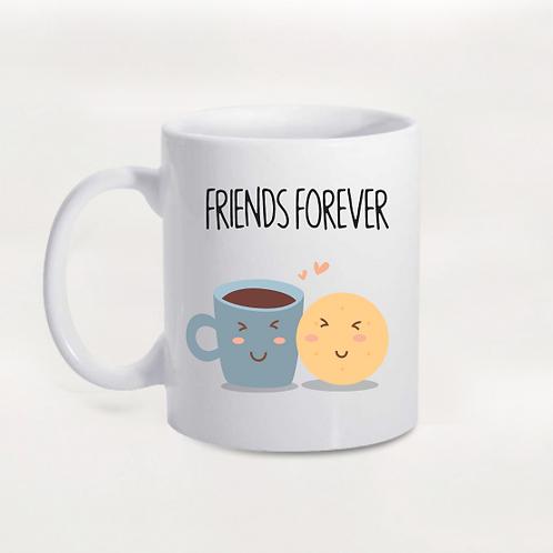 Caneca Friends Forever Café e Biscoito