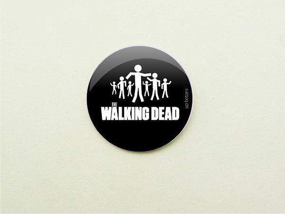 Boton The Walking Dead Black