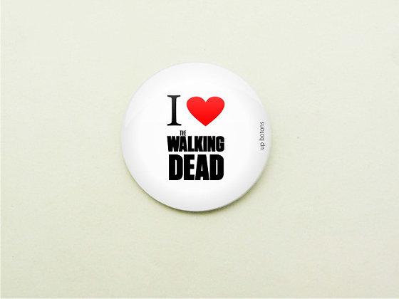 Boton I Love The Walking