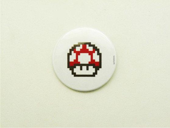 Boton Cogumelo Mário (Toad)