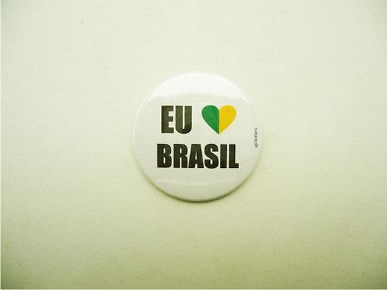 Boton Eu Amo Brasil