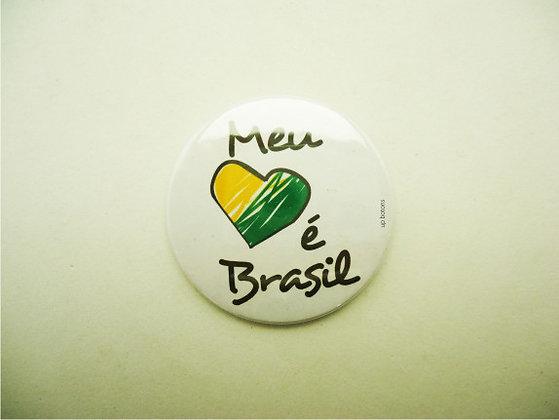Boton Meu Coração é Brasil