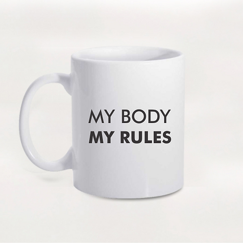 Caneca Girl Power - My Body, My Rules