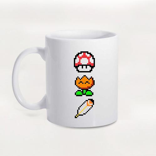 Caneca Mario - Power Ups