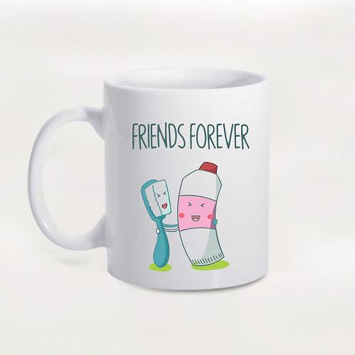Caneca Friends Forever Escova e Creme Dental